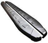 01655952 Stopnie boczne, czarne - Nissan Qashqai+2 2007-2013 (długość: 182 cm)