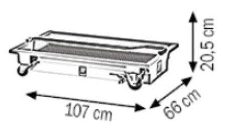 DOSTAWA GRATIS! 00075378 Mobilna wanna ściekowa (pojemność: 60 L)