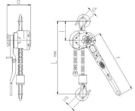 DOSTAWA GRATIS! 2202564 Wciągnik dźwigniowy, rukcug z łańcuchem sworzniowym RZV/3.2t (wysokość podnoszenia: 1,5m, udźwig: 3,2 T)