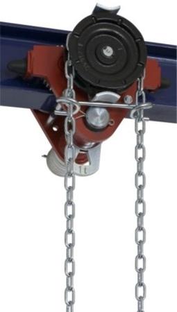 DOSTAWA GRATIS! 22038957 Wózek jedno-belkowy z napędem ręcznym Z420-A/1.0t/4m (wysokość podnoszenia: 4m, szerokość dwuteownika od: 50-113mm, udźwig: 1 T)
