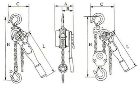 DOSTAWA GRATIS! 22043659 Wciągnik łańcuchowy, rukcug z dźwignią ZKS 3,0 3M (wysokość podnoszenia: 3m, udźwig: 3 T)