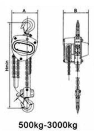 DOSTAWA GRATIS! 22043662 Wciągnik łańcuchowy WLK 3,0 (wysokość podnoszenia: 3m, udźwig: 3 T)