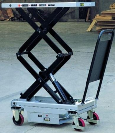 DOSTAWA GRATIS! 310567 Ruchomy stół podnośny elektryczny (udźwig: 300 kg, wymiary platformy: 1010x520 mm, wysokość podnoszenia min/max: 495-1600 mm)