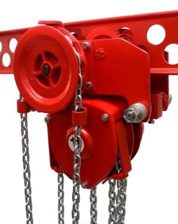 DOSTAWA GRATIS! 9588162 Wciągnik łańcuchowy przejezdny - z atestem ATEX (udźwig: 10,0 T, wysokość podnoszenia: 3m, zakres toru jeznego: 143-200 mm)