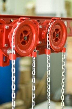 DOSTAWA GRATIS! 9588166 Wózek szynowy do wciągników stacjonarnych (udźwig: 2,5 T, wysokość podnoszenia: 3m, zakres toru jezdnego: 98-143 mm)