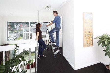 DOSTAWA GRATIS! 99674624 Aluminiowa drabina domowa KRAUSE Secury 4 stopniowa (wysokość robocza: 2,85m)