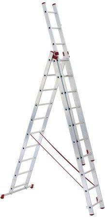 DOSTAWA GRATIS! 99674918 Drabina aluminiowa uniwersalna 3x9 (wysokość robocza: 7,00m)