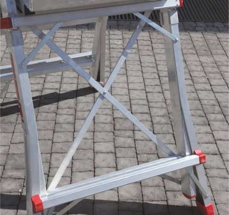 DOSTAWA GRATIS! 99675039 Drabina magazynowa jezdna FARAONE z wejściem jednostronnym (wysokość robocza: 4,18m)