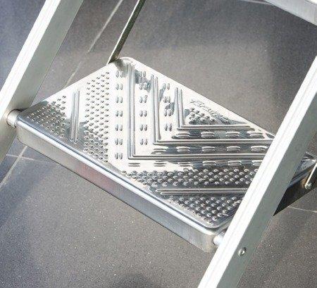DOSTAWA GRATIS! 99675074 Drabina magazynowa / schody magazynowe FARAONE (wysokość robocza: 2,55m)