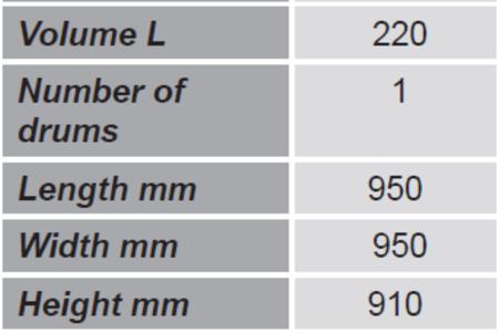 Paleta do transportu beczek z barierkami bezpieczeństwa GermanTech (ilość beczek: 1, wymiary: 950x950x910 mm) 99724716