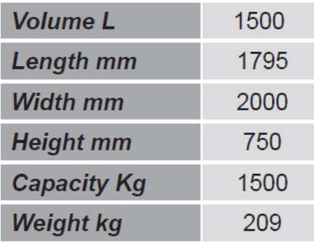 Pojemnik do śniegu i piasku GermanTech SK 2 (pojemność: 1500 L) 99724703