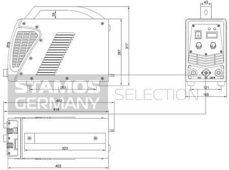 Przecinarka plazmowa Stamos 230V, 1-Fazowe (prąd cięcia: 10-55A. grubość /szerokość cięcia: 17 /1mm) 45643383