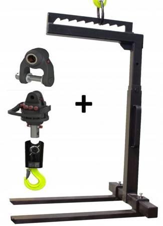 Reflow Widły do palet 2T + Hak 5T + Rotator 4,5T + łącznik (udźwig wideł: 2000 kg, długość łapy: 1000 mm) 16976573