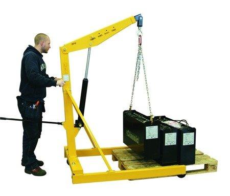 SWARK Żurawik warsztatowy GermanTech (udźwig w pozycji: 700-1000 kg). Szerokość dla palety 840mm 99724831