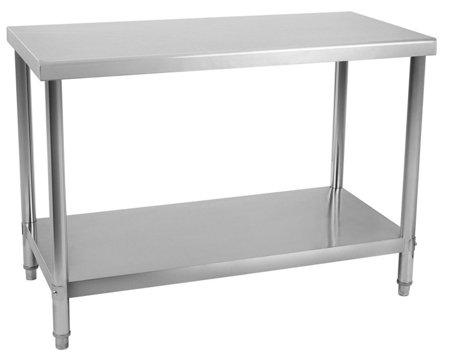Stół roboczy ze stali nierdzewnej bez kantu Royal Catering (wymiary: 120 x 70 x 85 cm) 4564351