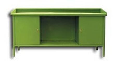 Stół ślusarski, 2 szafki (wymiary: 2000x800x900 mm) 77156872