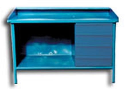 Stół ślusarski, 4 szuflady (wymiary: 1600x800x900 mm) 77156871