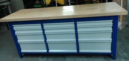 Stół warsztatowy, 12 szuflad (wymiary: 2000x750x900 mm) 77156977
