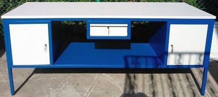 Stół warsztatowy, 2 szafki, 1 szuflada (wymiary: 1800x800x850 mm) 77156957