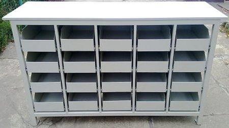 Stół warsztatowy, 20 szuflad (wymiary: 1700x600x1050 mm) 77156980
