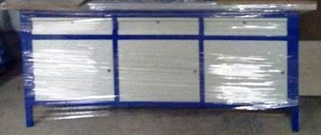 Stół warsztatowy, 3 szafki, 3 szuflady (wymiary: 2000x750x900 mm) 77156983