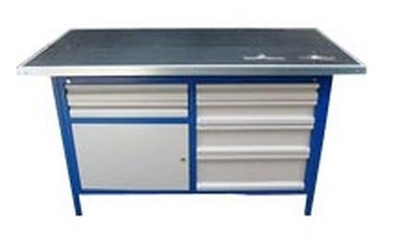 Stół warsztatowy, 6 szuflad, 1 szafka (wymiary: 2000x750x900 mm) 77156896