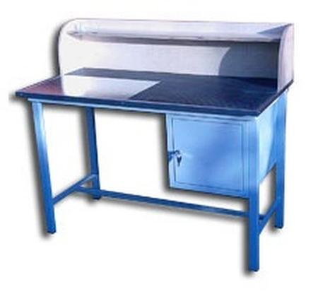 Stół warsztatowy z nadbudową, 1 szafka (wymiary: 1250x600x820 mm) 77156890