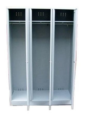 Szafa odzieżowa BHP, 3 drzwi (wymiary: 1800x1200x480 mm) 77157012