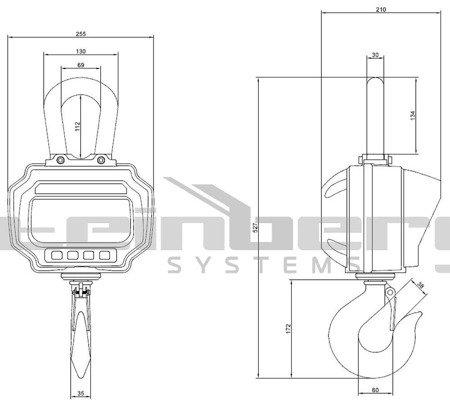 Waga hakowa Steinberg Systems LED (udźwig: 3T) 45643498