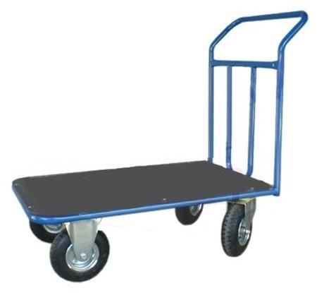 Wózek platformowy ręczny jednoburtowy (koła: pneumatyczne 225 mm, nośność: 250 kg, wymiary: 1200x700 mm) 13340578