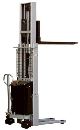 Wózek podnośnikowy z częściowym napędem elektrycznym MS1009 (maszt pojedyńczy, wysokość podn. maks: 900mm, udźwig: 1000 kg) 310510