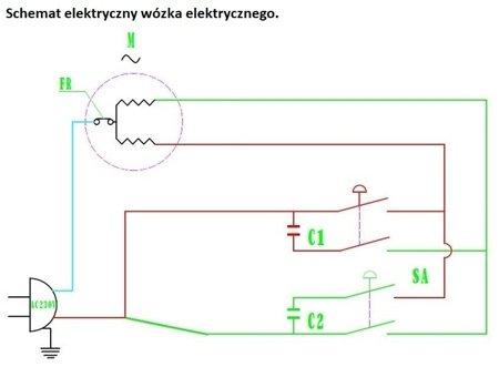Wyciągarka linowa elektryczna Industrial 400/800 230V, hamulec automatyczny (udźwig: 400/800 kg) + wózek elektryczny 1T 28876645